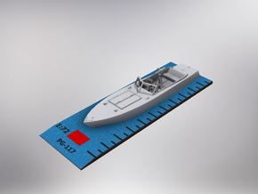 1/72nd (20mm) WW2 Russian (Soviet) motor boat body in White Natural Versatile Plastic