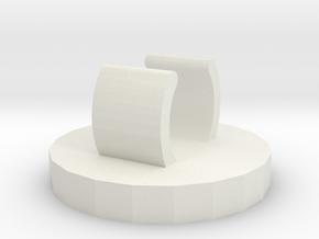 Stethoscope charm: Paw Print  in White Natural Versatile Plastic
