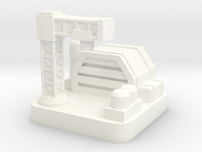 Mini Space Program, Base Factory in White Processed Versatile Plastic
