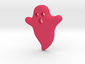 DIY Frebird Fridge Magnet - Mini Ghost (positive) in Pink Processed Versatile Plastic