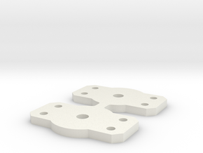 Flat Bolster for Walthers 2 axle trucks in White Natural Versatile Plastic: Medium