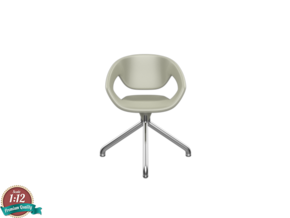 Miniature Vad Swivel Chair - Casamania in White Natural Versatile Plastic: 1:12