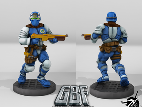 Assault Trooper w Shotgun (Terran - GBF) in Smooth Fine Detail Plastic: 28mm