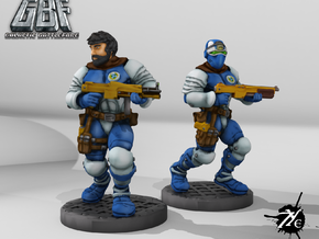 Assault Trooper Multipart (Terran - GBF) in Smooth Fine Detail Plastic