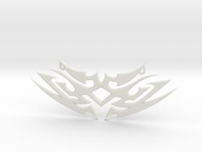 """Tribal """"Earth spirit"""" pendant in White Natural Versatile Plastic"""