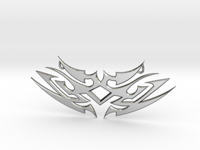 """Tribal """"Earth spirit"""" pendant in Polished Silver"""
