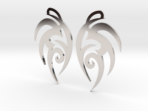 "Tribal ""Earth spirit"" Earrings in Rhodium Plated Brass"