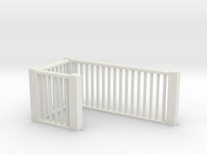 HO Scale upper railings 2 in White Natural Versatile Plastic