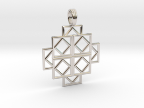 SQUARE DEALS in Rhodium Plated Brass