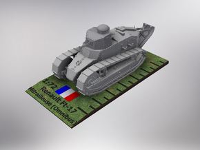 1/72nd scale Renault Ft-17 Char Mitrailleuse (omni in Smooth Fine Detail Plastic