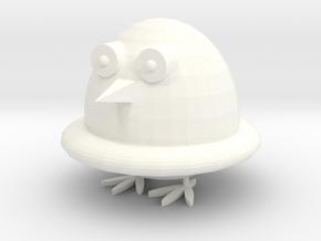 Q Penguin in White Processed Versatile Plastic: Medium