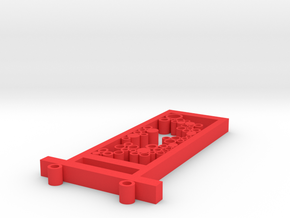 Reverse the love in Red Processed Versatile Plastic