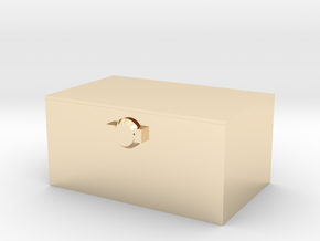 Tissue box in 14k Gold Plated Brass