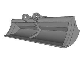 HO - Ditch Cleaning Bucket for 20-25t excavators in Smooth Fine Detail Plastic