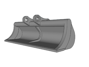 HO - Ditch Cleaning Bucket for 20-25t excavators in Frosted Ultra Detail