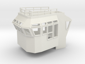 Bridge Superstructure 1/120 TT fits Harbor Tug in White Natural Versatile Plastic