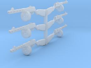 1/18 PPSh-41 machine guns x6 in Smooth Fine Detail Plastic