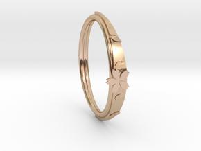 cherry blossoms bracelet in 14k Rose Gold Plated Brass: Medium