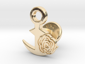 Cufflinks - Flower...Circle! in 14k Gold Plated Brass
