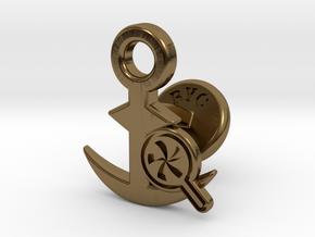 Cufflinks - Do your Rubesty! in Polished Bronze