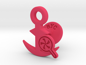 Cufflinks - Do your Rubesty! in Pink Processed Versatile Plastic