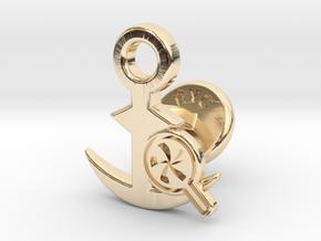 Cufflinks - Do your Rubesty! in 14k Gold Plated Brass