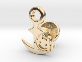 Cufflinks - Little Demon! in 14k Gold Plated Brass
