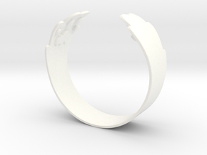 Cat palm ring in White Processed Versatile Plastic