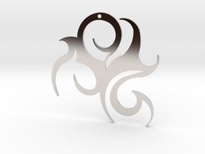 "Tribal ""Wind spirit"" Pendant in Rhodium Plated"