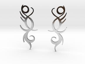 "Tribal ""Life Essence"" Earrings in Polished Silver"