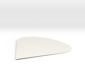 PIKE in White Natural Versatile Plastic: Medium