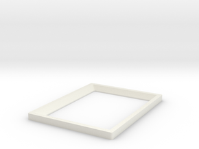 DIY 3.5''x2.5'' Frebird photo frame - Front in White Natural Versatile Plastic