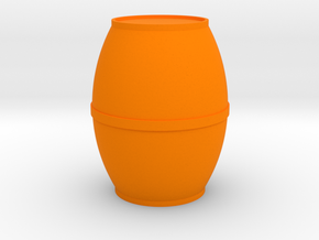 Round Single-Band Barrel Game Piece in Orange Processed Versatile Plastic