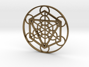 Metatron Cube - Octahedron in Polished Bronze