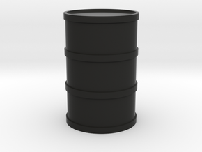 Round Oil Barrel Game Piece in Black Natural Versatile Plastic