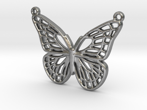 The butterfly in Natural Silver