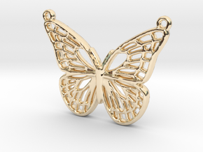 The butterfly in 14k Gold Plated Brass