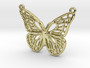 The butterfly in 18k Gold Plated