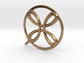 AntiSpin Flower Pendant: Classic in Natural Brass