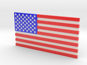 US Flag in Full Color in Glossy Full Color Sandstone