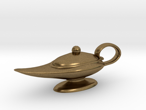 Oil Lamp Pendant in Natural Bronze