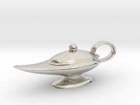 Oil Lamp Pendant in Platinum