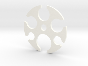 Cord Combiner in White Processed Versatile Plastic