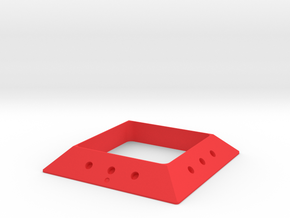 DIY Square magnetic joint GAMMA 30 (Negative) in Red Processed Versatile Plastic