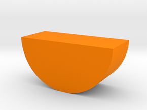 Orange Wedge Game Piece in Orange Processed Versatile Plastic