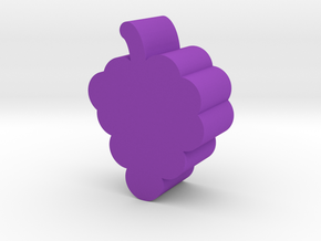 Grape Game Piece in Purple Processed Versatile Plastic