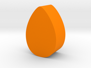 Almond Game Piece in Orange Processed Versatile Plastic