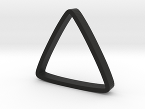 Ring Triangle 2 in Black Natural Versatile Plastic