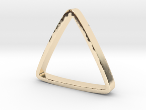 Ring Triangle 2 in 14k Gold Plated Brass