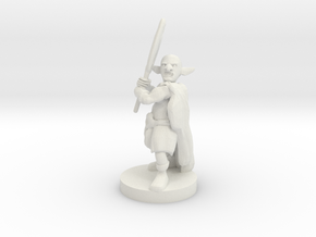 Deep Gnome Axe  Barbarian in White Natural Versatile Plastic